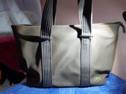 Lacoste Army Green Handbag