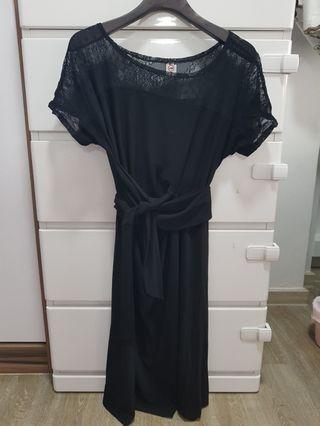 Maternity Black lace Dress #EndgameYourExcess