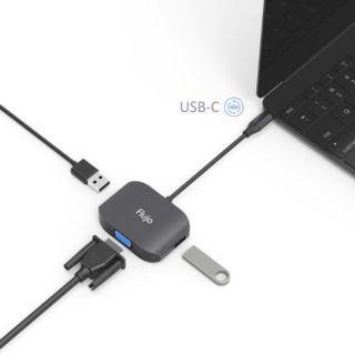 FLUJO CH-28 USB-C TO VGA/3.0/USB2.0 MULTIPORT ADAPTER