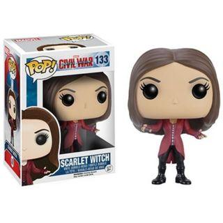 Sale!! Carton of 6 Marvel Civil War Funko Pop #133 Scarlet Witch Brand New