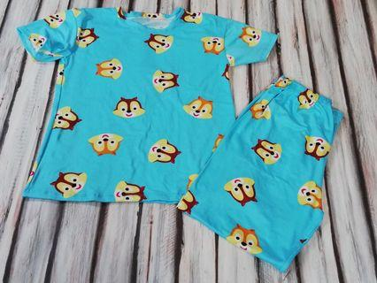 Bnew Chipmunk Blue Pajama fits 5 to 7 yrs old