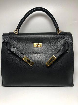 FAST SALE!! Hermes Kelly 32 Black Epsel