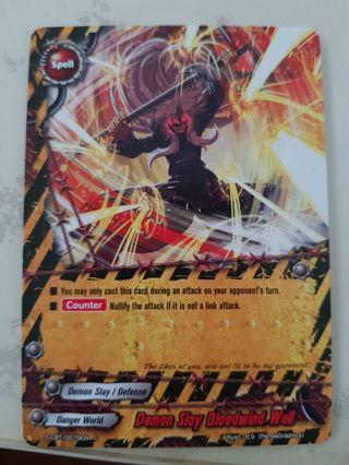 Buddyfight danger world card