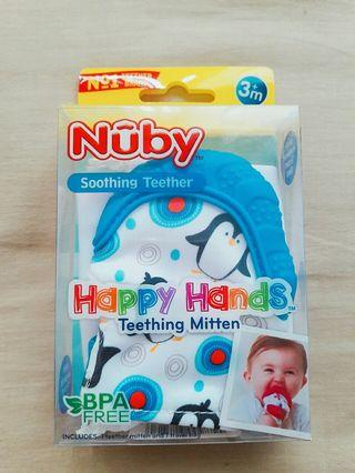 Nûby Soothing Teether Silicone Mitten with Hygienic Travel Bag