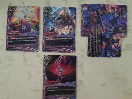 Buddyfight darkness dragon world cards