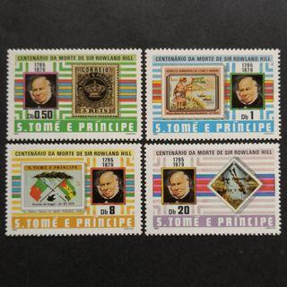 Sao Tome and Principe 1980. The 100th Anniversary of the Death of Rowland Hill, 1795-1879 complete stamp set