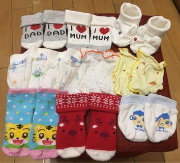 🚚 嬰幼兒襪子及手套