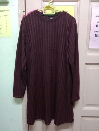 Tunic long top knitted