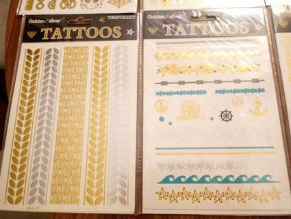金色渡假紋身貼