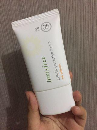 Innisfree daily UV protection cream no sebum sunblock sunscreen