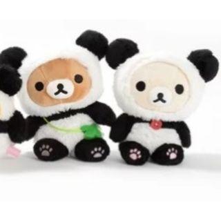 幸運草熊貓主題 Rilakkuma Panda de Goron Collectable Plush Collection 鬆弛熊