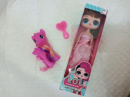 LOL barbie real hair