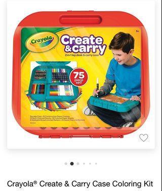 🇺🇸代購🐧 Crayola繪兒樂便攜式繪畫工具75件套裝