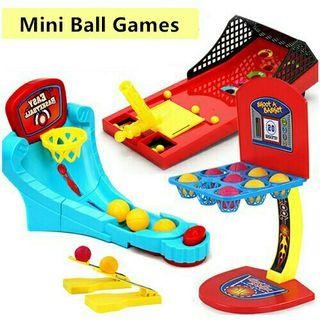 *FREE POST to West Malaysia only / Ready stock* Kids mini ball game each type as shown in design / color. Free delivery is applied for this item.