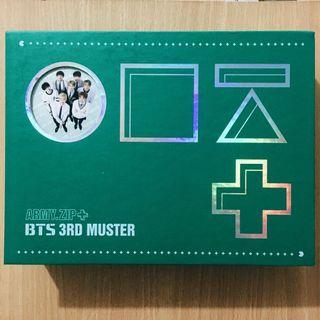 [RARE] Official BTS 3rd Muster Army Zip DVD