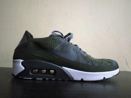 Nike Airmax 90 Flyknit 2.0 Rough Green Original100%