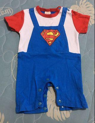 Cotton Superman Onesie Boy