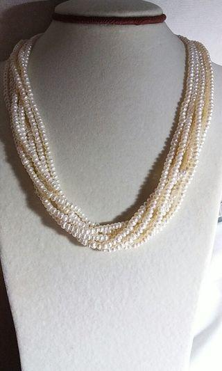 6 rows freshwater pearl necklace