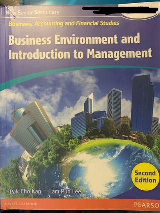 BAFS business environment and introduction to management