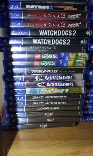 Authentic sealed PS4 games