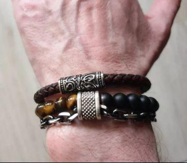 Leather Bracelet Eclectic American Style