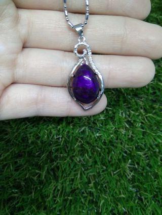 Natural Charoite Pendant 紫龙晶吊坠