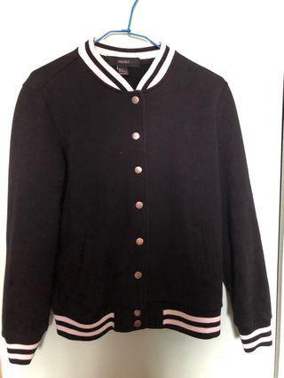 🚚 Forever21 女生棒球外套 黑色