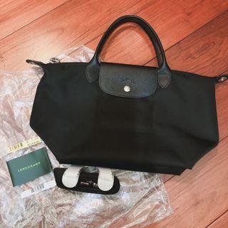 Longchamp 厚版短把 黑