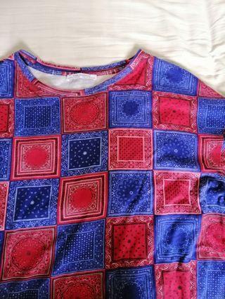 ZARA oversized printed shirt