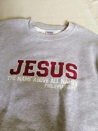 Gray Jesus sweater