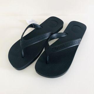 Man's Ipanema 男生 巴西尺寸37/38,39/40,41/42,43/44(巴西軟Q經典寬版夾腳人字拖鞋-黑色)