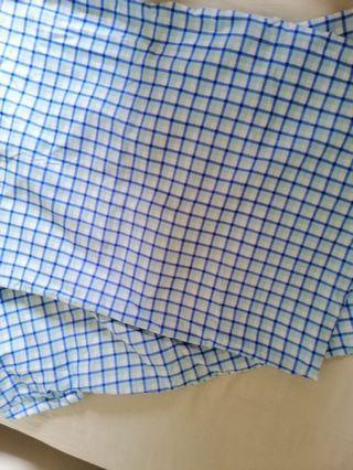 2pcs Blue pillowcase