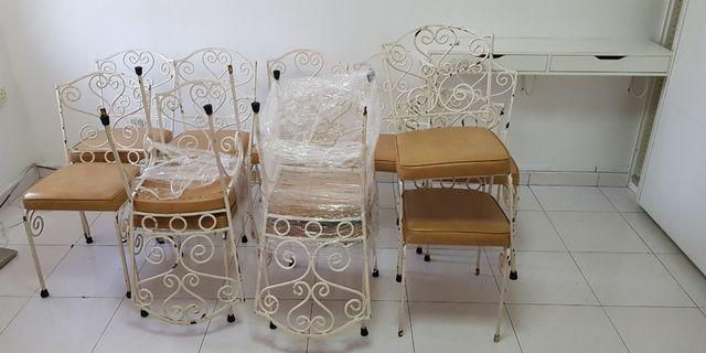 12 white chairs -SGD 5 each or total SGD 60