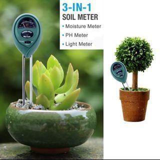 Soil moisture tester meter light pH for plants