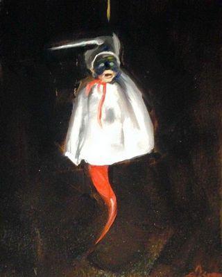 Espen - Italian Original Oil Painting, signed, unframed