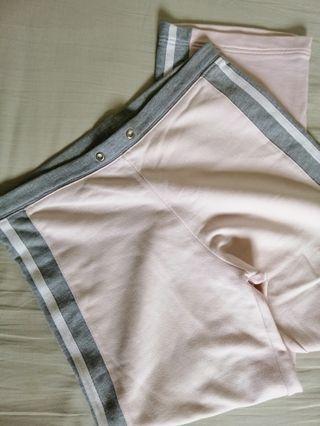 Pink and Gray track pants sweatpants