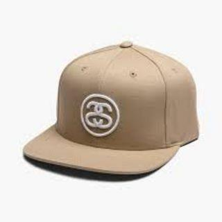 英國現貨正貨 Authentic Stussy Khaki Cap Snapback Hat