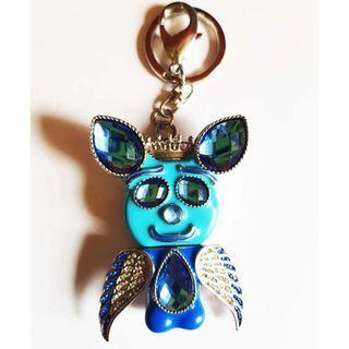 Coutuerissimo Crystal USB Key Chain Blue Crissy Bear 4GB flash drive