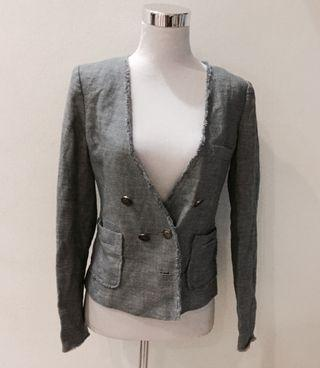 Vintage look blazer denim blend