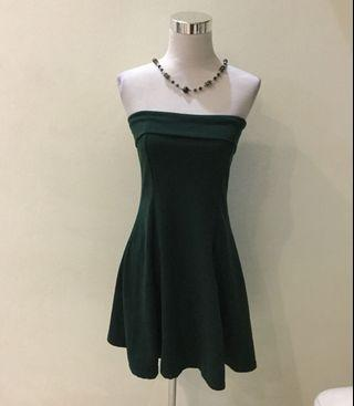 Emerald green tube dress