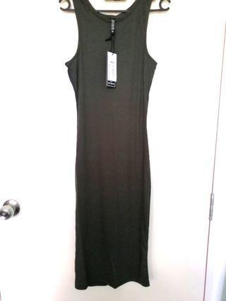 BNWT olive green Midi Dress