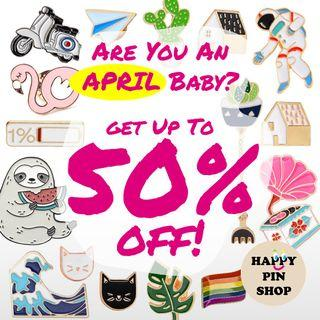 Enamel Pin Lovers: Birthday Promo - Get 20 to 50% Off at Toy Outpost @ Plaza Singapura!