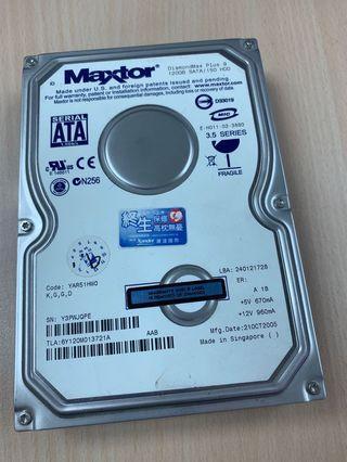 Maxtor sata硬碟 120G