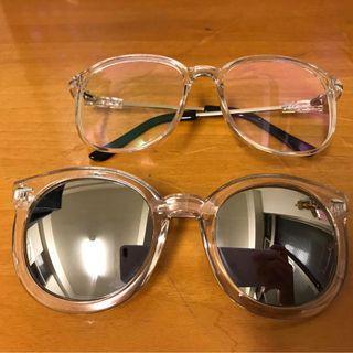 蝦皮下單/透明框眼鏡/墨鏡/歐美/韓/太陽眼鏡/平光眼鏡/復古造型