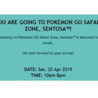Pokemon go safari zone ticket saturday