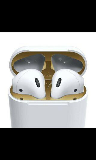 🚚 Elago AirPods Dust Guard, 18K Gold Plating (2 sets included)