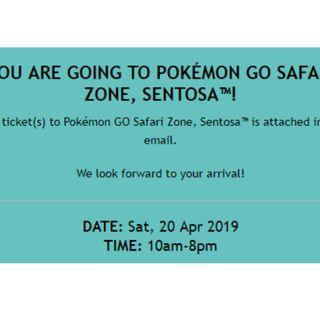 pokemon go safari ticket saturday x1