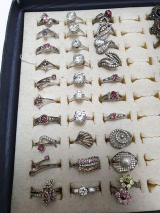 925 silver rings with natural gems clearance sale