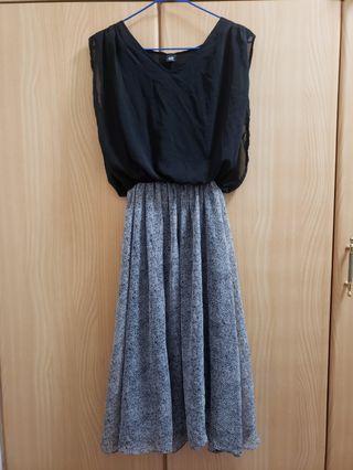 Past the knee length dress