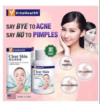 [Ready Stocks] - Vitahealth Clear Skin 60's